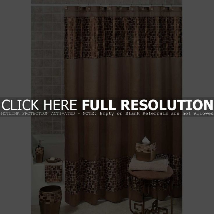Brown Tree Shower Curtain Set