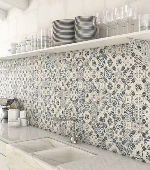 Viac ako 25 najlepších nápadov na Pintereste na tému Küche deko blau - fliesen tapete küche