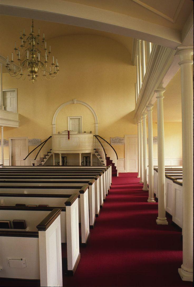 Interior, First Presbyterian Church,1819 -- New Bern, North Carolina