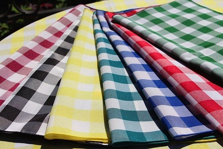 Poly Check Tablecloths