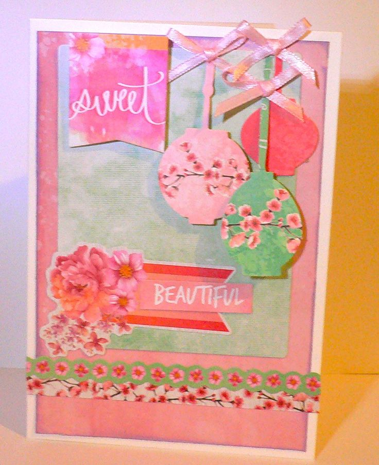 'Sweet' card by Adriana Bolzon Design Team Kaisercraft Cherry Blossom Collection - Wendy Schultz ~ Cards 1