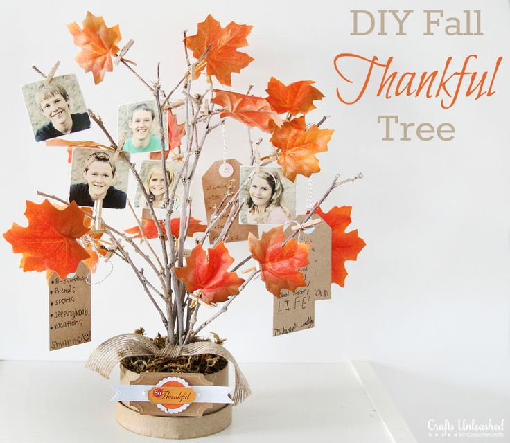 DIY Thankful tree- you can easily switch out for other holidays! Full tutorial.