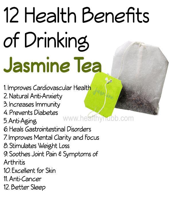12 Incredible Health Benefits of Jasmine Tea: #wellness #organic #anti oxidants