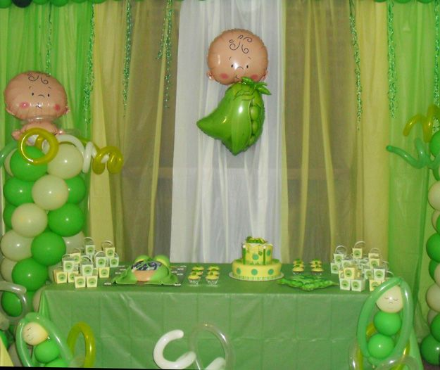 Celebrating a sweet little pea in the pod is easy with the Sweet Pea baby shower theme. Hostess Heroes have taken the vivid green color palette and created amazing venues in honor of the Mommy-To-Be.  Adorable, fillable baby bottles are everyone's favorite do-it-yourself baby shower favor. Filled