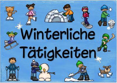 """Ideenreise: Plakat """"Winterliche Tätigkeiten"""""""