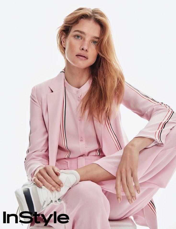 Natalia Vodianova | Spring Pastel Fashion Editorial | InStyle