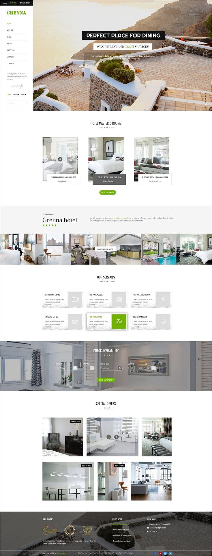 Grenna   Multipurpose PSD Template. Grenna Is Clean And Modern Design ...