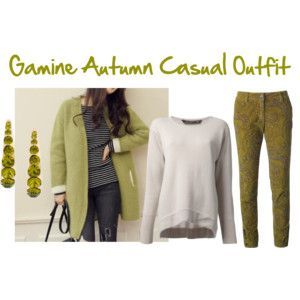 Gamine Autumn Casual Outfit