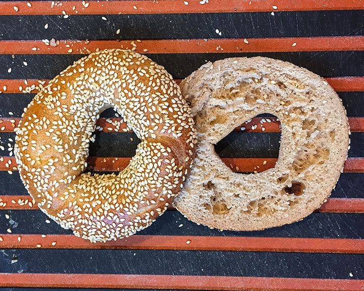 Passions run deep about what style of bagel reigns supreme. Is it the NY style bagel? Orthesmaller and sweeter Montreal bagel?There's an old rule of etiquettethat says you should never discuss sex, politics or religion in polite company. Perhaps bagels should be added to the list.