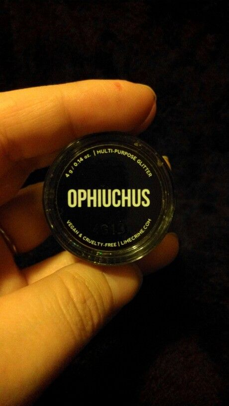 Lime Crime Ophiuchus loose zodiac glitter, swatched $10 shipped
