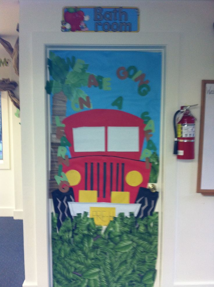 Jungle theme door. We are on a learning safari