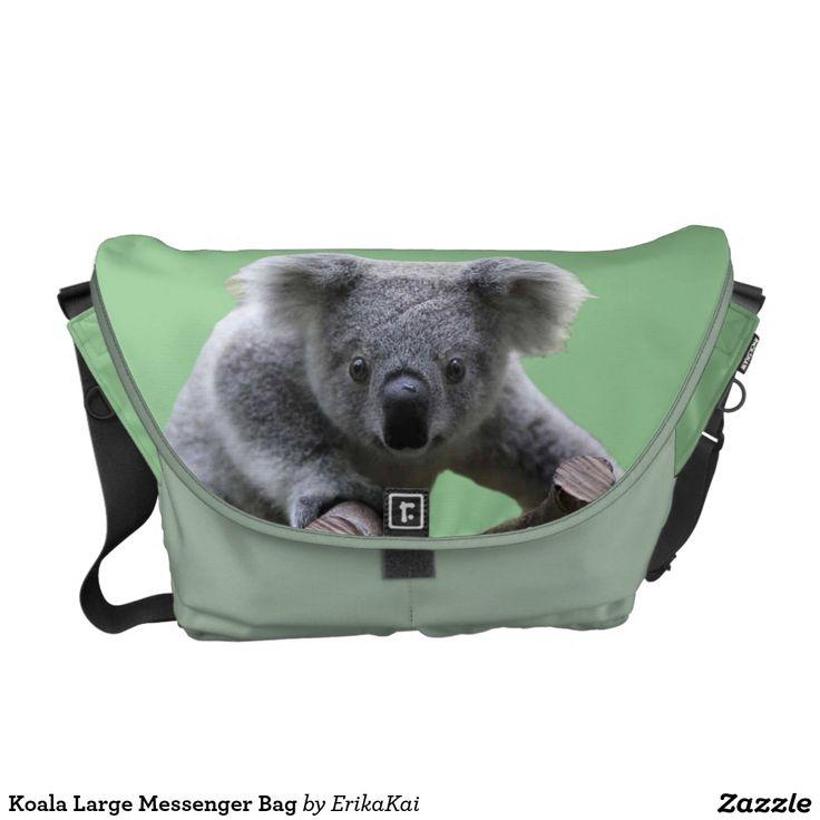 Koala Bear Large Rickshaw Messenger Bag. Water resistant, extra durable. Interior and binding 20 color options.