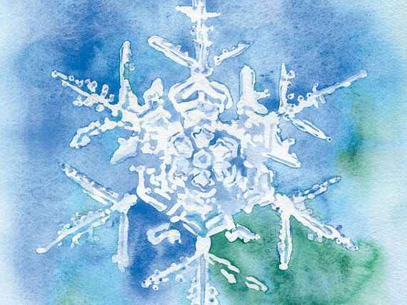 Snowflake Watercolor Painting Christmas Cards Set by SusanWindsor, $20.00
