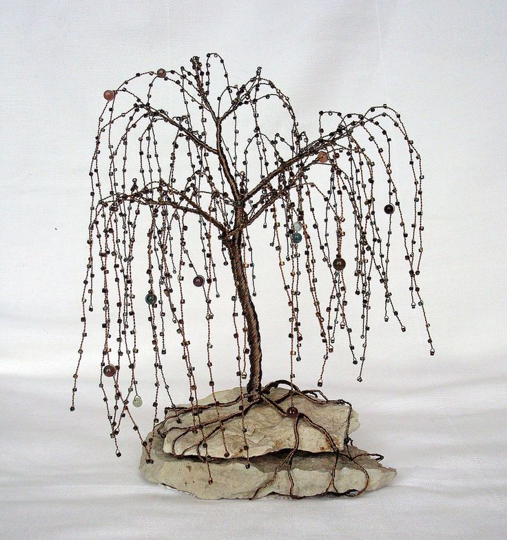 how to make a weeping willow tree out of wire