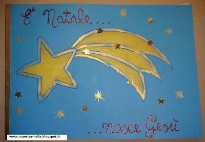 """Libretto """"E' Natale ...nasce Gesù""""con copertina blu e stella cometa..."""