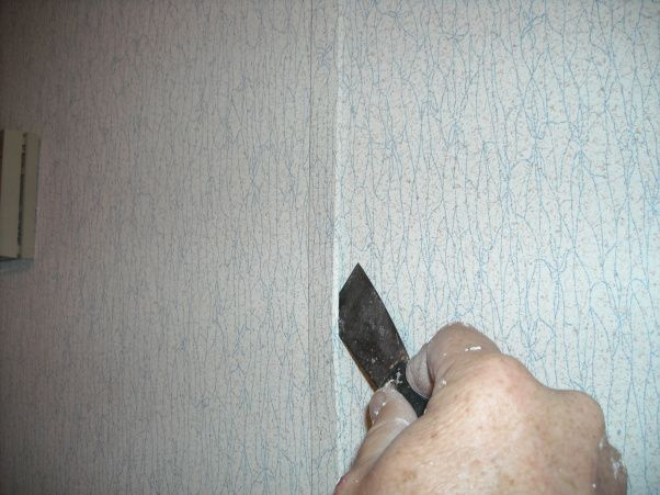 Doublewide Bedroom # 2, Upgrading a 15 year old double wide moble home bedroom., Removing the strips between the sheets of sheet rock is easy if you use a small puty knife to pry it away from the wall, you may want to use gloves to protect your hands. , Bedrooms Design