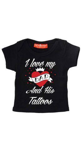 Darkside Tattoo Dad Baby T-Shirt