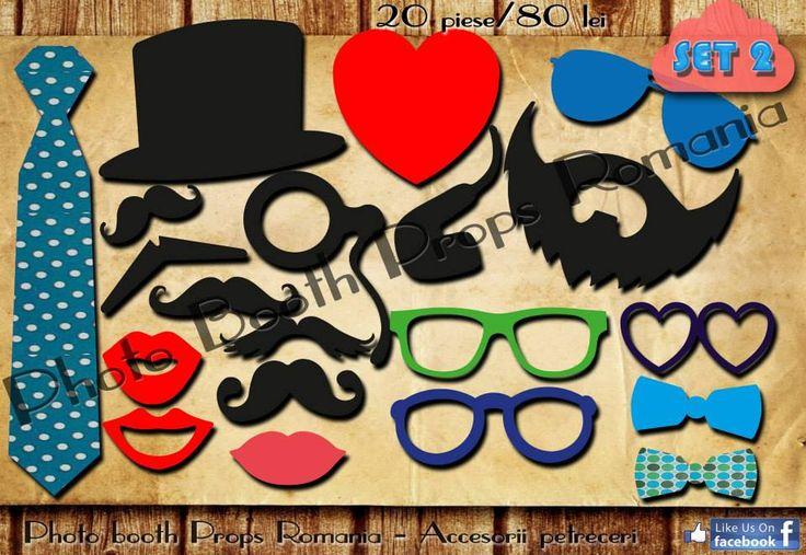 Propspuri pentru petrecere Set 2  20 de piese 80 lei Vizitati pagina de facebook https://www.facebook.com/PhotoPropsBucuresti