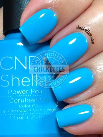 CND Shellac Paradise Collection Summer 2014 - Cerulean Blue