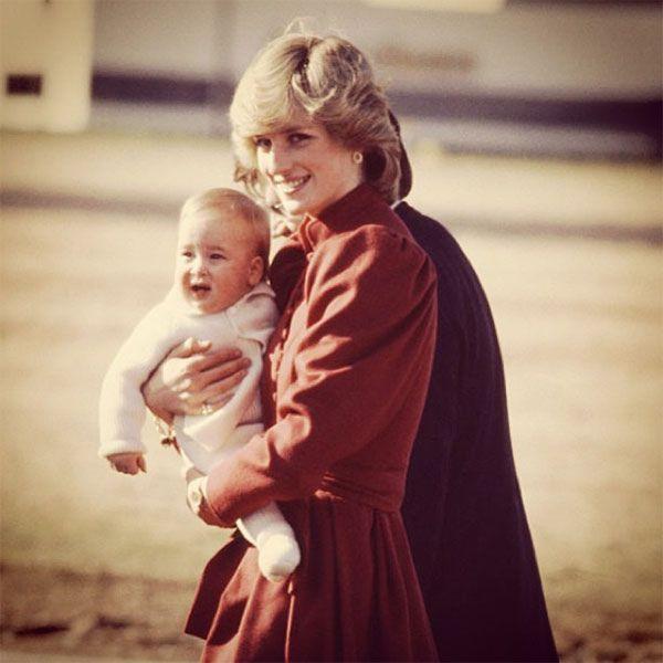 Princess Diana with baby William