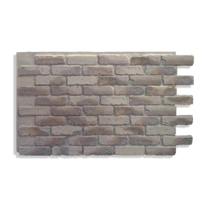 Antico Elements Faux Brick Panels Ashes 47 5 In X 27 25 In Panel Brick Veneer Lowes Com In 2021 Faux Brick Panels Brick Paneling Faux Brick