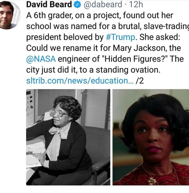 I just finished reading Hidden Figures not too long ago, great book I highly recommend reading, this is the most brilliant thing I heard in a while