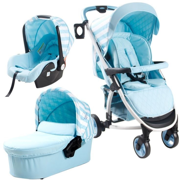 Buy My Babiie Billie Faiers MB100+ Travel System (Blue Stripes) | PreciousLittleOne