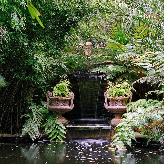 Lamorran House Gardens, Cornwall, UK   A coastal garden with interesting water features (6 of 11) by ukgardenphotos, via Flickr