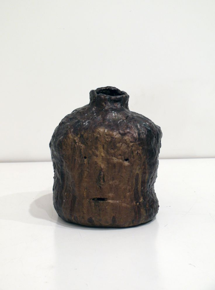 Graham Fletcher, 2014, Untitled (Head 6), ceramic and acrylic, 240 x 230 x 230mm