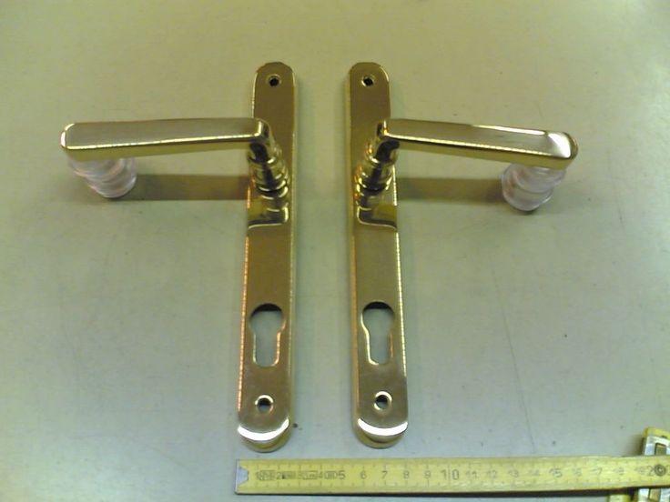 Maniglia con placca stretta (28 mm), Handle on plate close