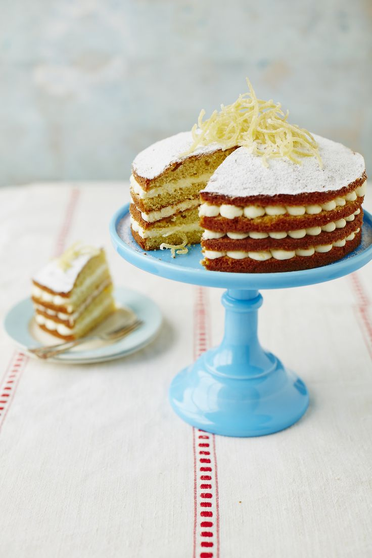 Sherbet Lemon Cake - recipe available at the link below   http://www.johnwhaite.com/homebaking/