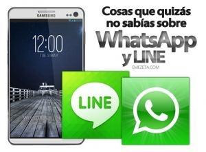 WhatsApp y LINE: Cosas que quizás no sabías   Emezeta