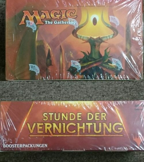 MTG Sealed Booster Packs 19109: Magic The Gathering: Hour Of Devastation Factory Sealed Booster Box (German) -> BUY IT NOW ONLY: $100 on eBay!