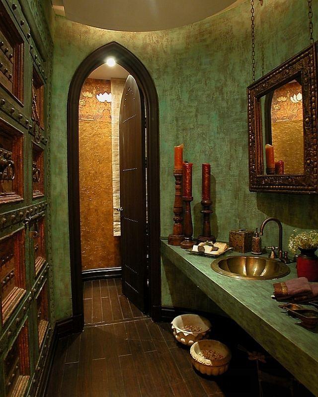 klassisch marokkanischer Einrichtungsstil-Wände mit Putz-Optik-kontrastreiche Texturen