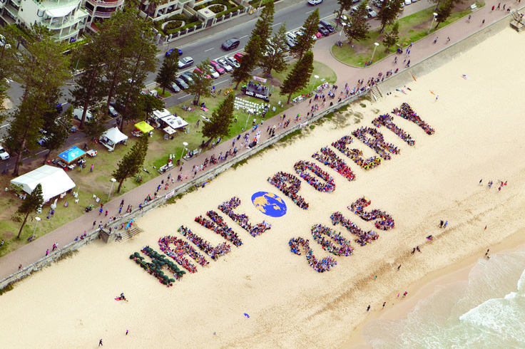 One of the most memorable advocacy actions in 2013 happened on 31 August when 3000 people gathered at Manly Beach to form the words HALVE POVERTY 2015 in a show of support for increasing foreign aid.