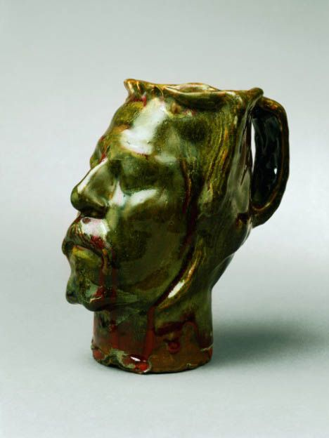 Paul Gauguin: Self portait vase in the form of a severed head  http://annabregmanportraits.co.uk/unusual-self-portraits/
