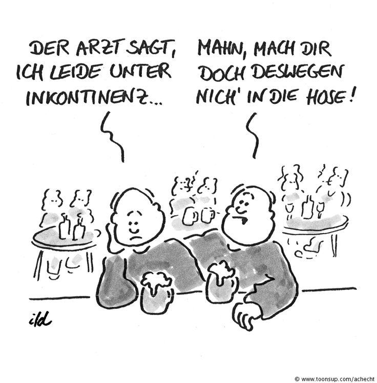 Cartoon Inkontinenz