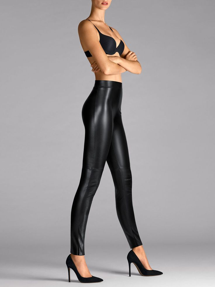 Not finding the right size? Estella is produced in 34, 36, 38, 40, 42 and 44 but it is in such high demand that some sizes might get sold out. Just call customer service or your nearest boutique to inquire about availability.    Absolutely opaque leatherette leggings which can be worn as trousers.       Decorative seam above the knees for the perfect look    No gusset    Seam up the inside leg    The tailored hem can be shortened as required    Machine-washable    Stylish, luxuriously…