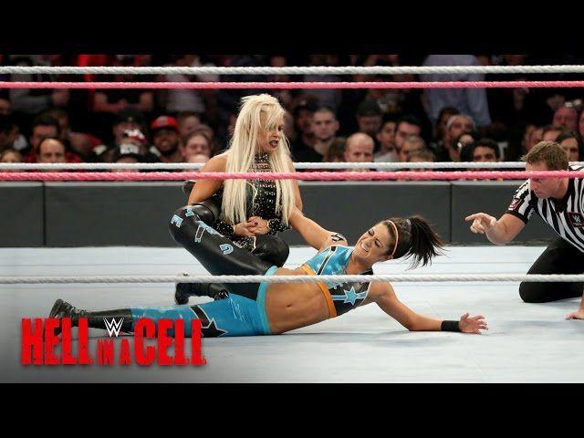 Bayley keeps Dana Brooke at arm's length: WWE Hell in a Cell 2016 #bayley #keeps #brooke #length