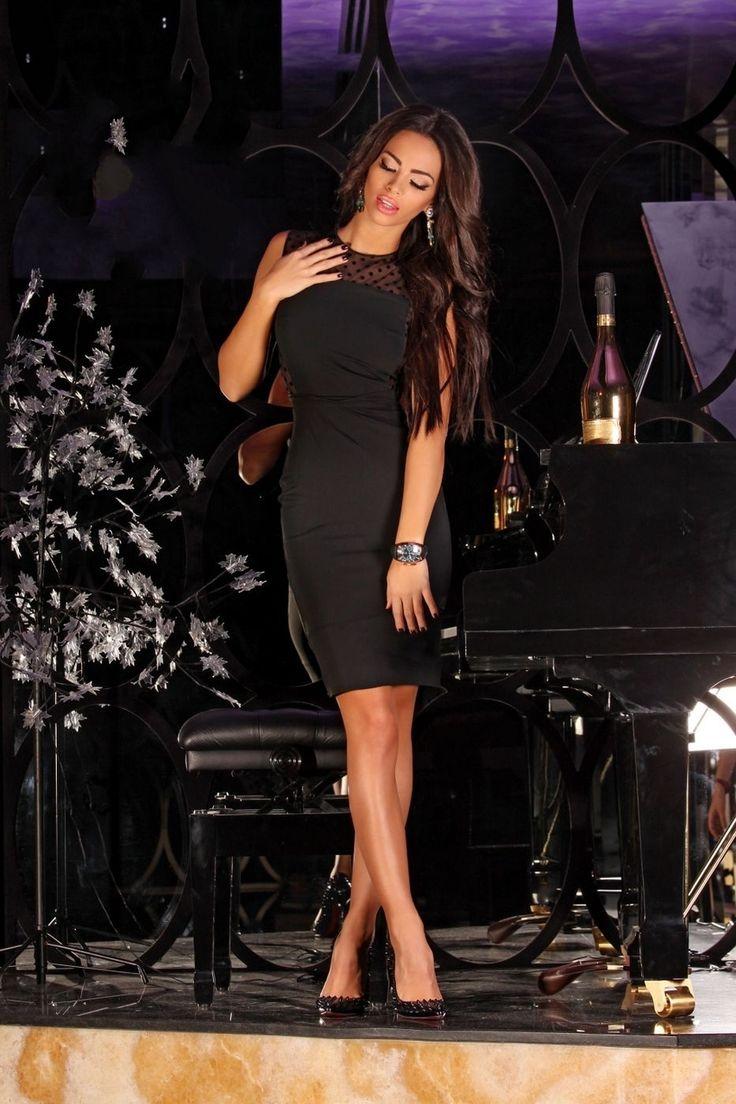 Black Dots Dress - Baronesa Fashion House