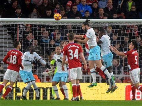 Middlesbrough FC match gallery from Premier League match against West Ham United at the Riverside Stadium