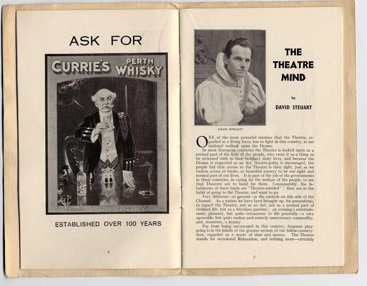 David Steuart In Perth Theatre Scotland