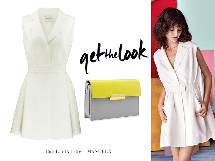 Get your Summer favourites: loose girly MANUELA dress with snaps and leather shoulder LIVIA bag #LaMania