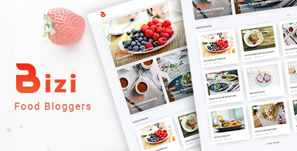 Bizi - A WordPress Theme for Food Bloggers. Whether you're a blogger or a company trying to share recipes or personal blog posts, you'll need to get started with one of the best food WordPress themes #wordpress #food #blog #theme