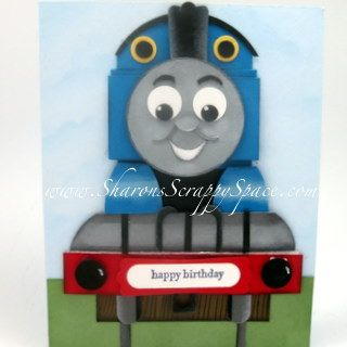 Thomas The Train Punch Art Card  http://www.sharonsscrappyspace.com/