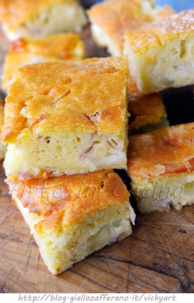 Torta rustica veloctorta e con formaggio e prosciutto vickyart arte in cucina