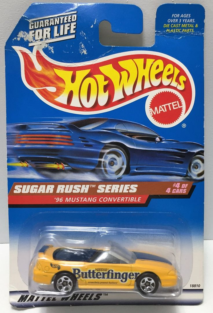 1997 Mattel Hot Wheels Sugar Rush Series - '96 Mustang Convertible This item is NOT in Mint Condition and is in no way being described as Mint or even Near Mint. Our toys have not always lead the perf