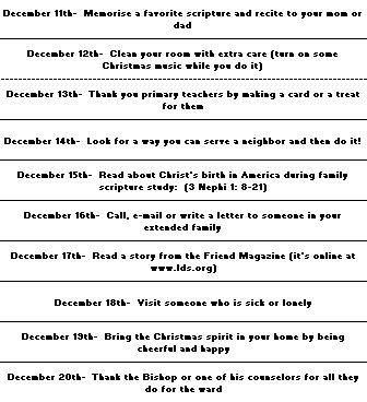 Advent Christmas Chain