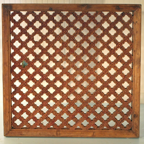 Antique Chinese Asian Carved Wood Window Screen Wall Lattice Panel Art 35