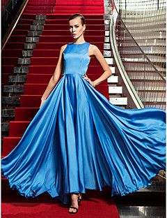 Free Measurements ! A-line Jewel Floor-length Satin And Chiffon Evening Dress inspired by Bianca Lawson at the Emmys. Get amazing discounts up to 70% Off at Light in the Box with Coupon and Promo Codes.